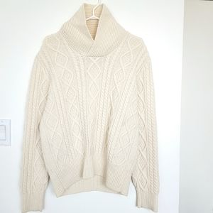 Tommy Hilfiger 100% Wool Cable Knit Sweater